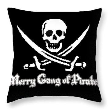 Merry Gang Of Pirates Throw Pillow