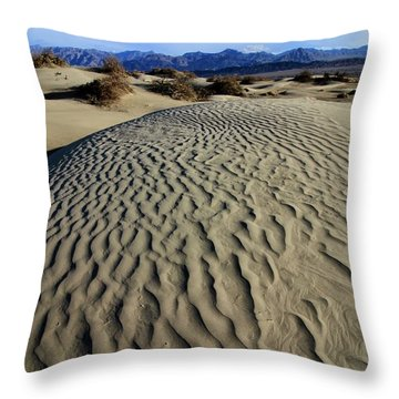 Mesquite Flat Sand Dunes Grapevine Mountains Throw Pillow
