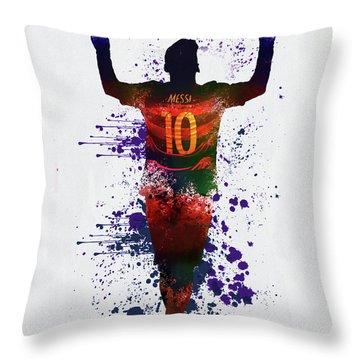 Messi Barcelona Throw Pillow