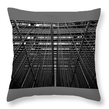 Metal Lines Throw Pillow