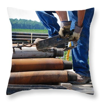 Throw Pillow featuring the photograph Metal On Metal by Carl Young