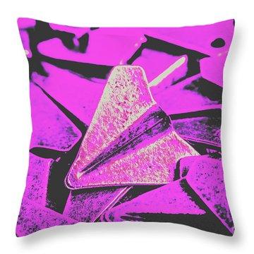 Metal Wings Throw Pillow