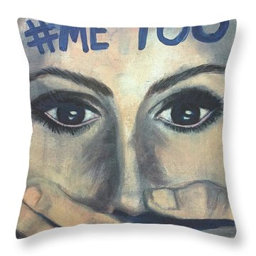 #me_too Throw Pillow