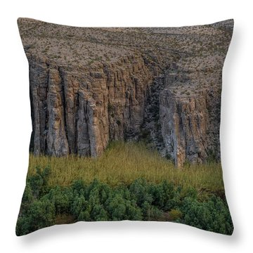 Mexican Box Canyon Throw Pillow