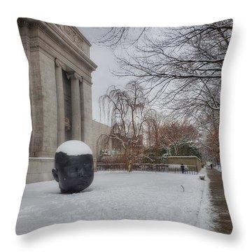 Mfa Boston Winter Landscape Throw Pillow