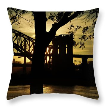 Mid Autumn Silhouette Throw Pillow
