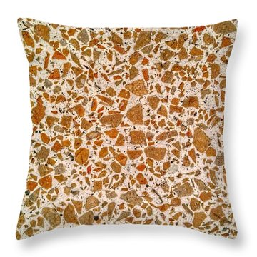 Mid Century Terrazzo Throw Pillow