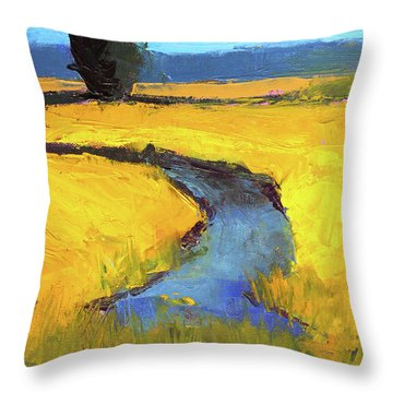 Mid July Throw Pillow