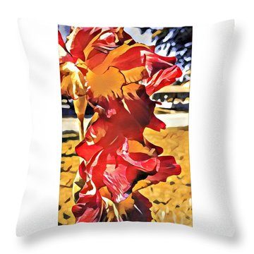 Midcentury Floral Print 001 Throw Pillow