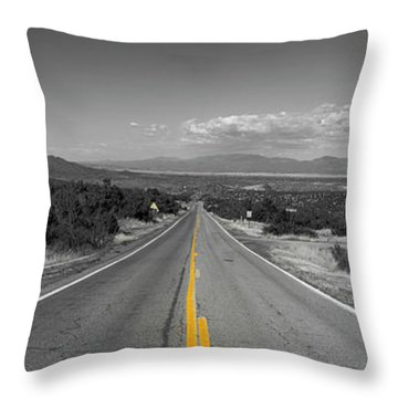 Middle Of The Road Throw Pillow