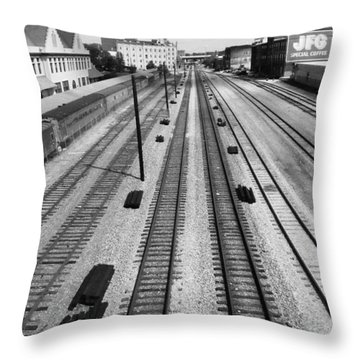 Middle Of The Tracks Throw Pillow
