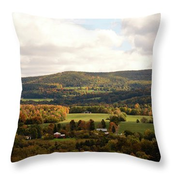 Throw Pillow featuring the photograph Middleburg In New York by Angie Tirado