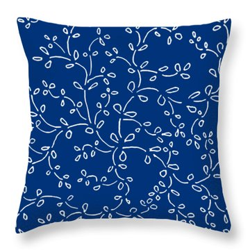 Throw Pillow featuring the painting Midnight Blue by Belinda Landtroop