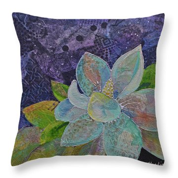 Midnight Magnolia II Throw Pillow