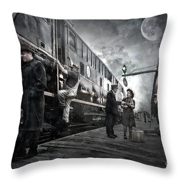 Midnite Run Throw Pillow