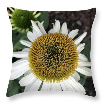 Mighty Macro Flower  Throw Pillow