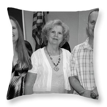 Throw Pillow featuring the photograph Mike's Family by Angela Murdock