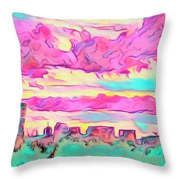 Mile High Sunset Throw Pillow