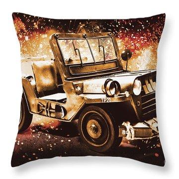 Military Machine Throw Pillow