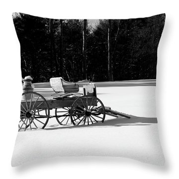 Throw Pillow featuring the photograph Milk Wagon Monochrome by Wayne King