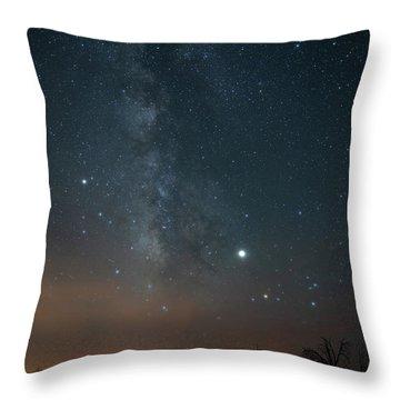 Milky Mesa Throw Pillow