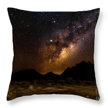 Milkyway Over Spitzkoppe 2, Namibia Throw Pillow