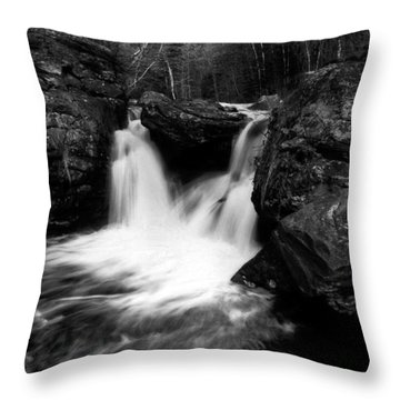 Throw Pillow featuring the photograph Mill Falls Monochrome by Wayne King