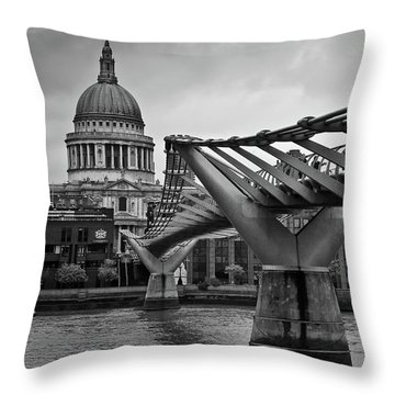 Millennium Bridge 01 Throw Pillow
