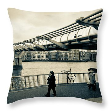 Millennium Bridge 03 Throw Pillow