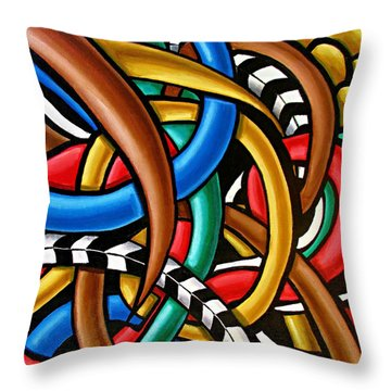 Colorful Abstract Art Painting Chromatic Intuitive Energy Art - Ai P. Nilson Throw Pillow
