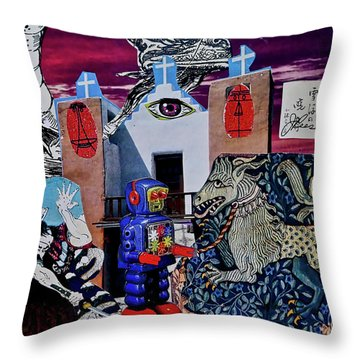 Throw Pillow featuring the painting Mind's Eye by Joan Reese