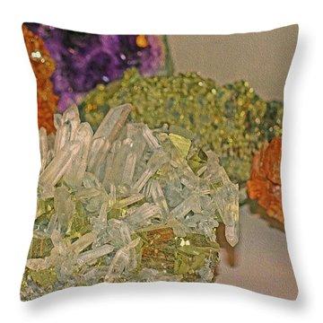 Throw Pillow featuring the photograph Mineral Medley 7 by Lynda Lehmann