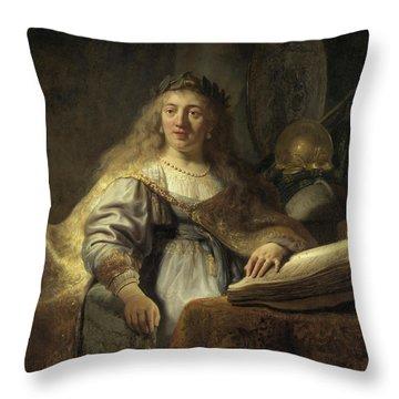 Minerva In Her Study Throw Pillow