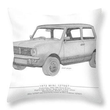 Mini 1275gt Saloon Throw Pillow