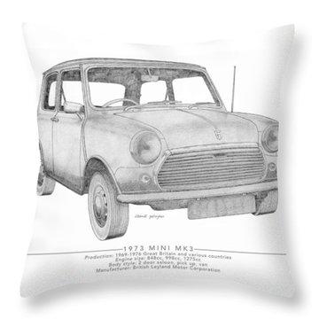 Mini Mk3 Saloon Throw Pillow
