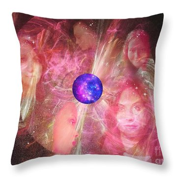 Ministering Spirits Throw Pillow