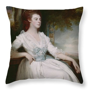 Miss Clavering Throw Pillow