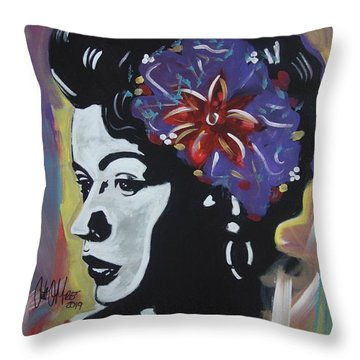 Miss Holiday Throw Pillow