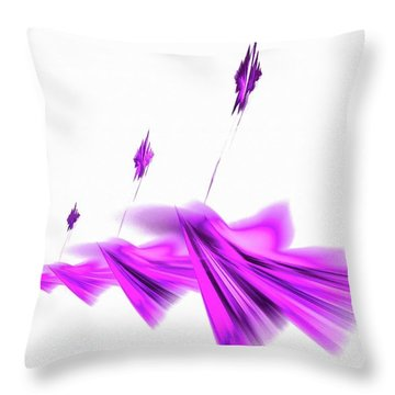 Missile Command Purple Throw Pillow