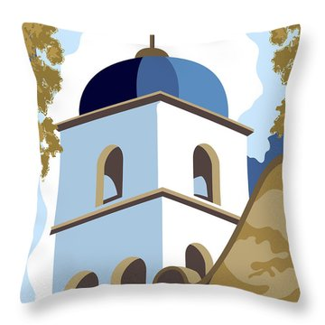 Mission Basilica San Diego De Alcala Throw Pillow