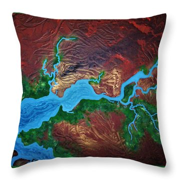 Mission River Throw Pillow