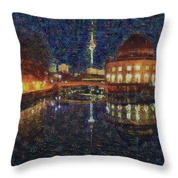 Mist Of Impressionism. Berlin. Throw Pillow