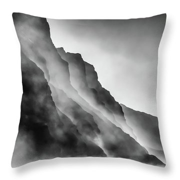 Mist On The Rocks Throw Pillow