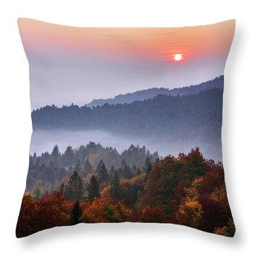 Ljubljana Throw Pillows