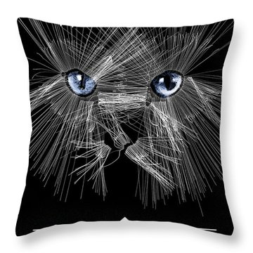 Mister Whiskers Throw Pillow