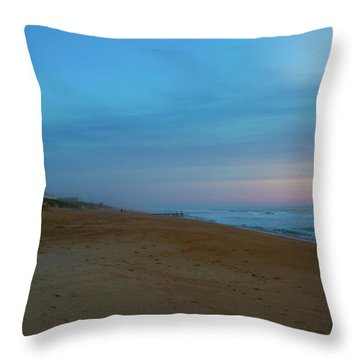 Throw Pillow featuring the photograph Misty Morning by Lora J Wilson