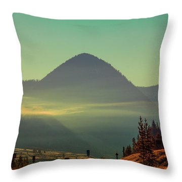 Throw Pillow featuring the photograph Misty Mountain Morning by Pete Federico