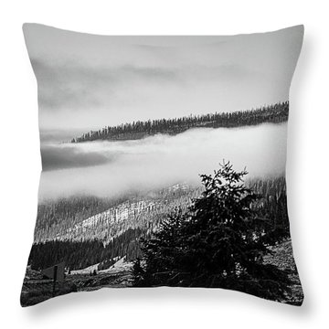 Throw Pillow featuring the photograph Misty Mountain  by Pete Federico