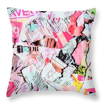 Mixed Media Messages Throw Pillow