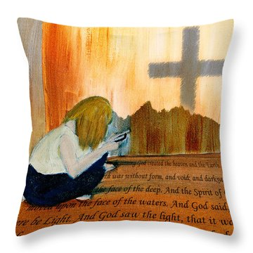 Mobile Religion Throw Pillow